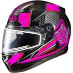 Black/Neon Pink/Gray CL-17SN MC-8 Striker Helmet w/Frameless Electric Shield - 57-29386