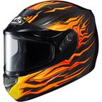 Black/Orange/Yellow CS-R2SN MC-2 Flame Block Helmet With Dual Lens Shield - 55-18876