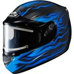 Black/Blue CS-R2SN MC-2 Flame Block Helmet w/Electric Shield - 55-28822