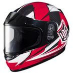 Youth Red/Black/White CL-YSN MC-1 Striker Helmet with Framed Dual Lens Shield - 55-12016
