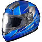 Youth Blue/Gray/White CL-Y MC-2 Striker Helmet - 1119-3002-56