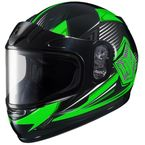 Youth Green/Black/White CL-YSN MC-4 Striker Helmet with Framed Dual Lens Shield - 235-943