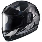Youth Gray/Black CL-YSN MC-5 Striker Helmet with Framed Dual Lens Shield - 55-12056