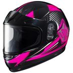 Youth Pink/Black/Gray CL-YSN MC-8 Striker Helmet with Framed Dual Lens Shield - 1119-3008-56