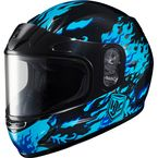 Youth Blue/Black CL-YSN Flame Helmet With Framed Dual Lens Shield - 55-11926