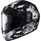 Youth White/Gray/Black CL-Y Flame Helmet - 1119-2905-56