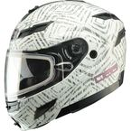 White Divas Snow Gear DSG GM54S Aztec Modular Snowmobile Helmet - 462-9104L