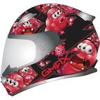 Youth Black/Red GM49Y Attack Snowmobile Helmet - 72-5991YL