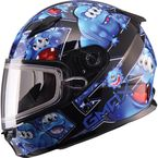 Youth Black/Blue GM49Y Attack Snowmobile Helmet - 72-5992YL