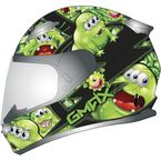 Youth Black/Green GM49Y Attack Snowmobile Helmet - 72-5994YL