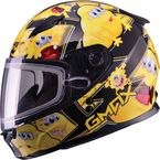 Youth Black/Yellow GM49Y Attack Snowmobile Helmet - 72-5995YL