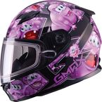 Youth Black/Purple GM49Y Attack Snowmobile Helmet - 72-5997YL
