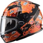 Youth Black/Orange GM49Y Attack Snowmobile Helmet - 72-5998YL