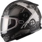 Youth Flat Black/Silver GM49Y Trooper Snowmobile Helmet  - 72-6017YL