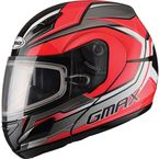 Red/Silver GM44S Glacier Modular Snowmobile Helmet - 72-6081S