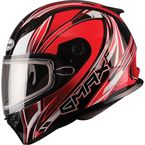 Red/White/Black FF49 Sektor Snowmobile Helmet - 72-6301L