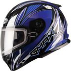 Blue/White/Black FF49 Sektor Snowmobile Helmet - 72-6302L
