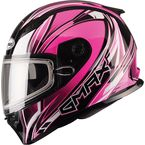 Pink/White/Black FF49 Sektor Snowmobile Helmet - 72-6303L