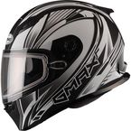 Flat Black/White FF49 Sektor Snowmobile Helmet - 72-6308L