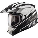 Flat Black/White GM11S Trekka Snow Sport Snowmobile Helmet - 72-7136L