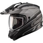 Flat Black/Dark Silver GM11S Trekka Snow Sport Snowmobile Helmet - 72-7137X