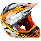 Shattered Orange ECE Certified F4 Helmet - 5106-001-140-402
