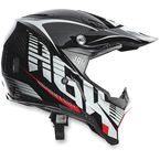 Black/White/Red AX-8 Evo Carbotech Helmet - 7511O2C0011209