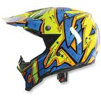 Blue/Orange AX8 Spray Helmet - 7511O2C001409