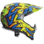 Blue/Orange AX-8 Evo Spray Helmet - 7511O2C001409
