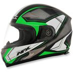 Black/Bright Green FX-90 Extol Helmet - 0101-8422