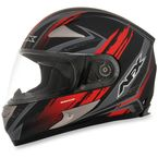 Black/Red FX-90 Rush Matte Helmet - 0101-8439