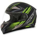 Black/Green FX-90 Rush Matte Helmet - 0101-8459