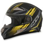 Black/Yellow FX-90 Rush Matte Helmet - 0101-8464