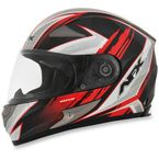 Black/Red FX-90 Rush Gloss Helmet - 0101-8474
