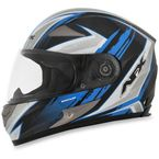 Black/Blue FX-90 Rush Gloss Helmet - 0101-8480