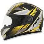 Black/Yellow FX-90 Rush Gloss Helmet - 0101-8498