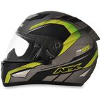 Frost Gray/Green FX-95 Airstrike Helmet - 0101-8576