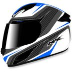 White/Blue FX-24 Stinger Helmet - 0101-8687