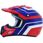 Red/Blue/White FX-17 Vintage Honda Helmet - 0110-4566