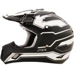 Flat Black/White FX-17 Works Helmet - 0110-4603