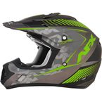 Frost Gray/Green FX-17 Youth Factor Helmet - 0111-1007