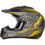 Frost Gray/Hi Vis Yellow FX-17 Youth Factor Helmet - 0111-1018