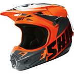 Orange Assault Race Helmet - 16108-009-L