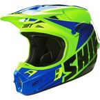 Yellow/Blue Assault Race Helmet - 16108-586-L