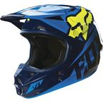 Blue/Yellow V1 Race Helmet - 14400-026-L