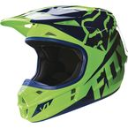 Youth Fluorescent Green V1 Race Helmet - 15226-395-S