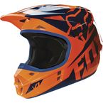 Youth Orange/Blue V1 Race Helmet - 15226-592-S