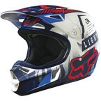 Youth Blue/White Vicious V1 Helmet - 15229-025-L