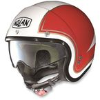 Metallic White/Red N21 Tricolor Helmet  - N2N5273450311