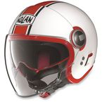 White/Red N21 Visor Duetto Helmet - N215272850086